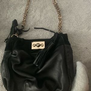 Chloe black leather bucket bag